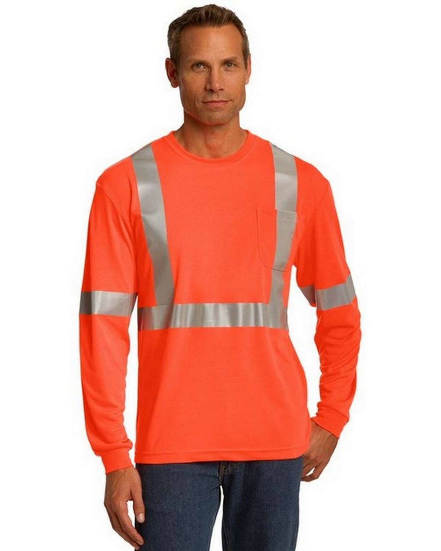 Cornerstone CS401LS ANSI 107 Class 2 Long Sleeve Safety T-Shirt