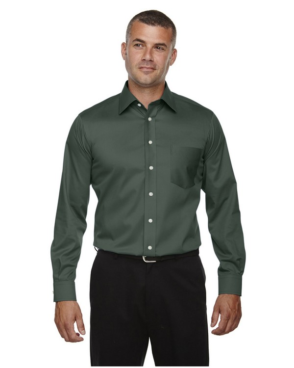 Devon & Jones DG530 Mens Crown Collection Solid Stretch Twill Shirt