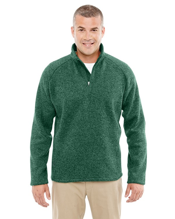 Devon  Jones DG792 Mens Bristol Sweater Fleece Half-Zip
