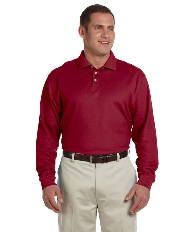 Devon & Jones D110 Mens Pima Piqu Long-Sleeve Polo