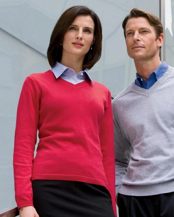 Devon & Jones D475W Ladies V-Neck Sweater