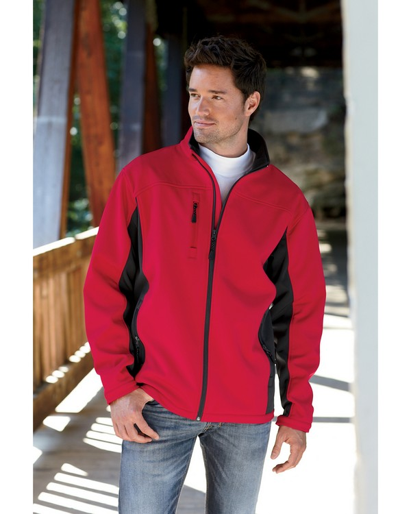 Devon & Jones D997 Mens Soft Shell Colorblock Jacket