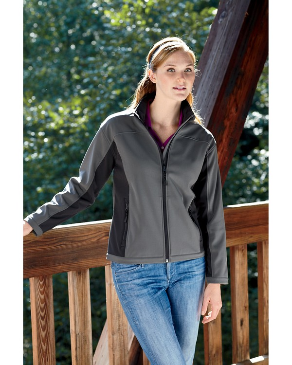 Devon & Jones D997W Ladies Soft Shell Colorblock Jacket