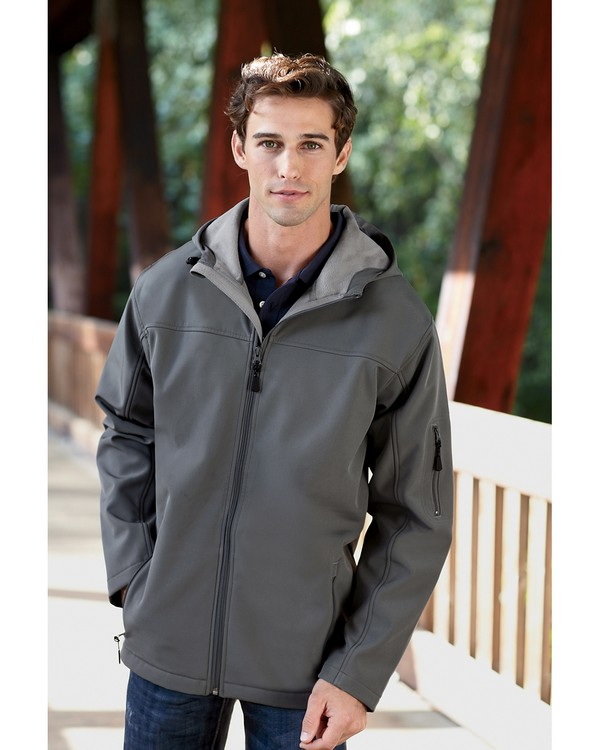 Devon & Jones D998 Mens Hooded Soft Shell Jacket