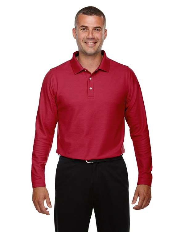 Devon  Jones DG170 Mens Drytec20 Performance Long Sleeve Polo Shirt