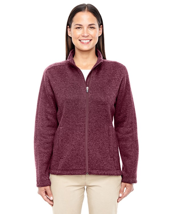 Devon  Jones DG793W Ladies Bristol Full Zip Sweater Fleece Jacket