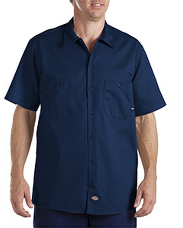 Dickies LS307 Industrial Short-Sleeve Cotton Work Shirt