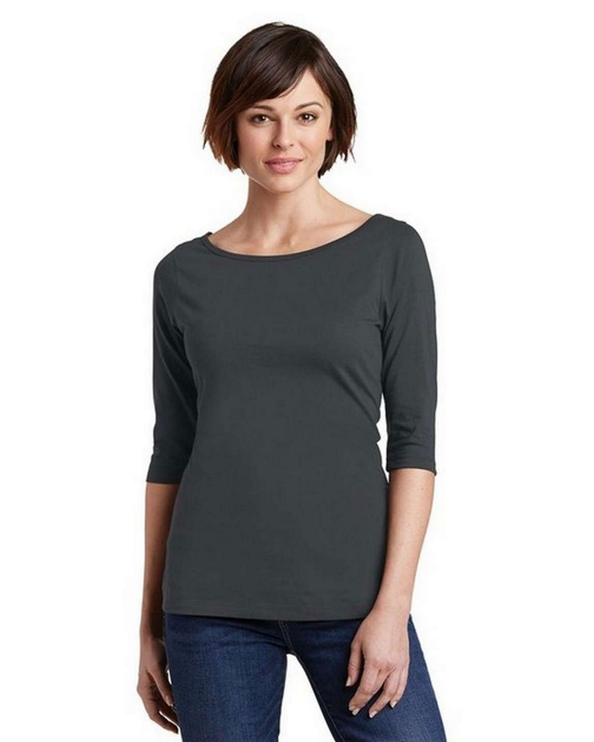 District DM107L Women Perfect Weight 3/4-Sleeve Tee