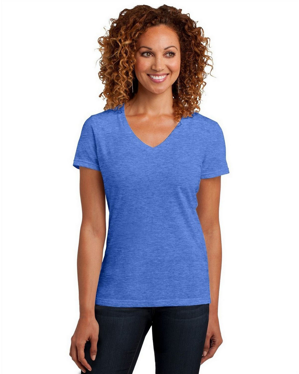 District DM1190L Women Perfect Blend V-Neck Tee
