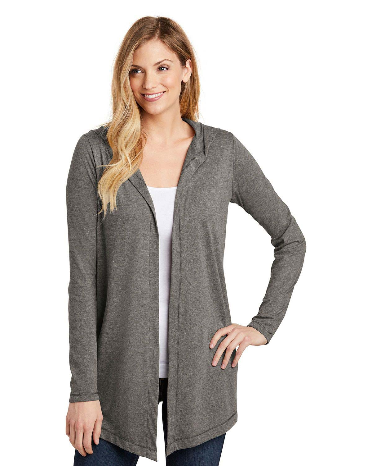 District DT156 Womens Perfect Tri Hooded Cardigan