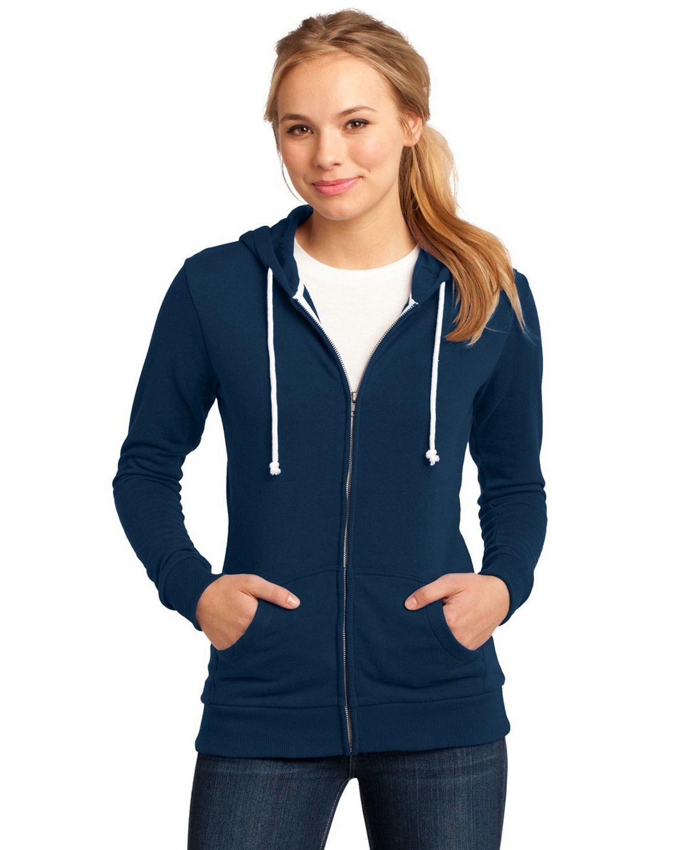 District DT290 Juniors Core Fleece Full-Zip Hoodie