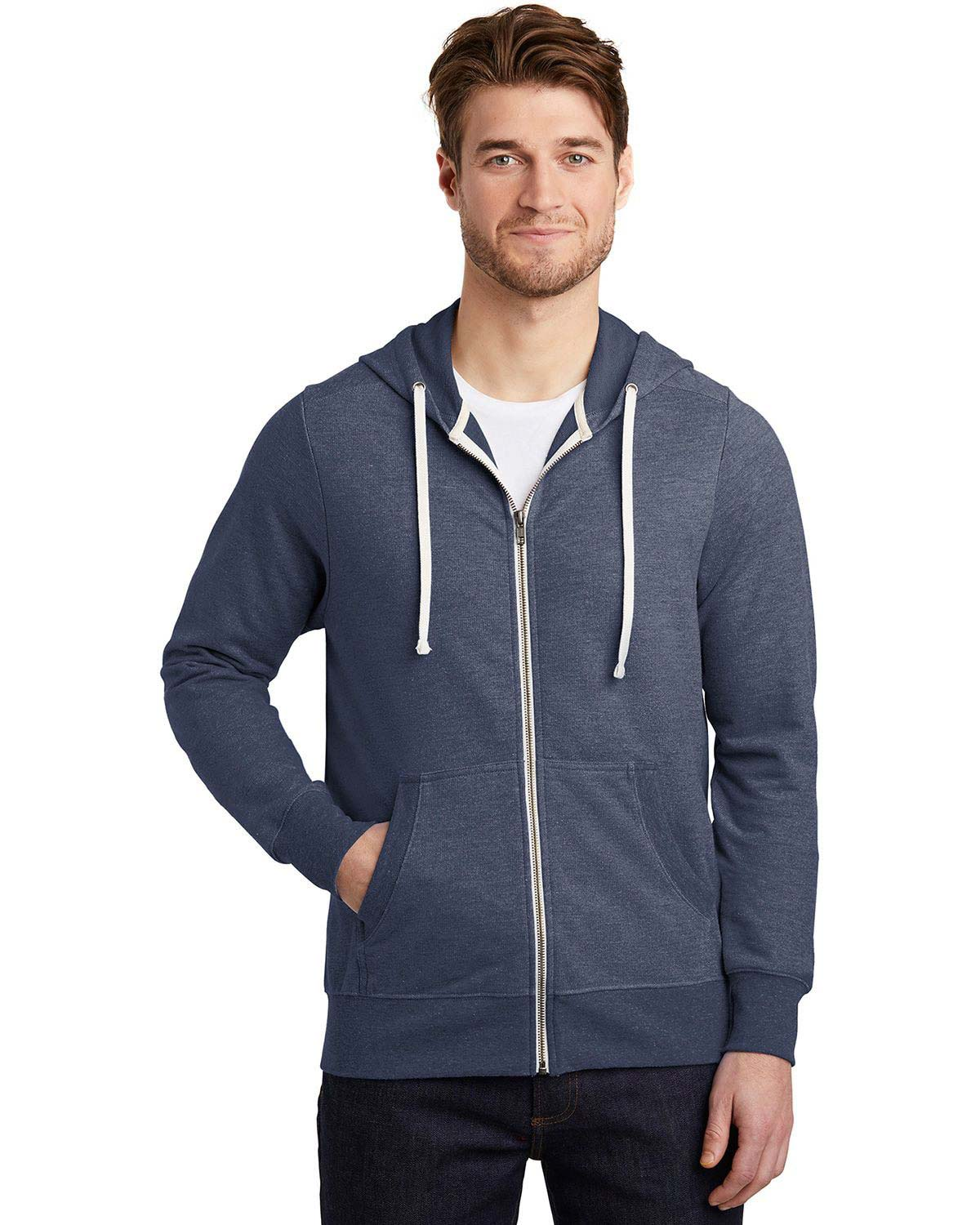 District DT356 Perfect Tri French Terry Full-Zip Hoodie