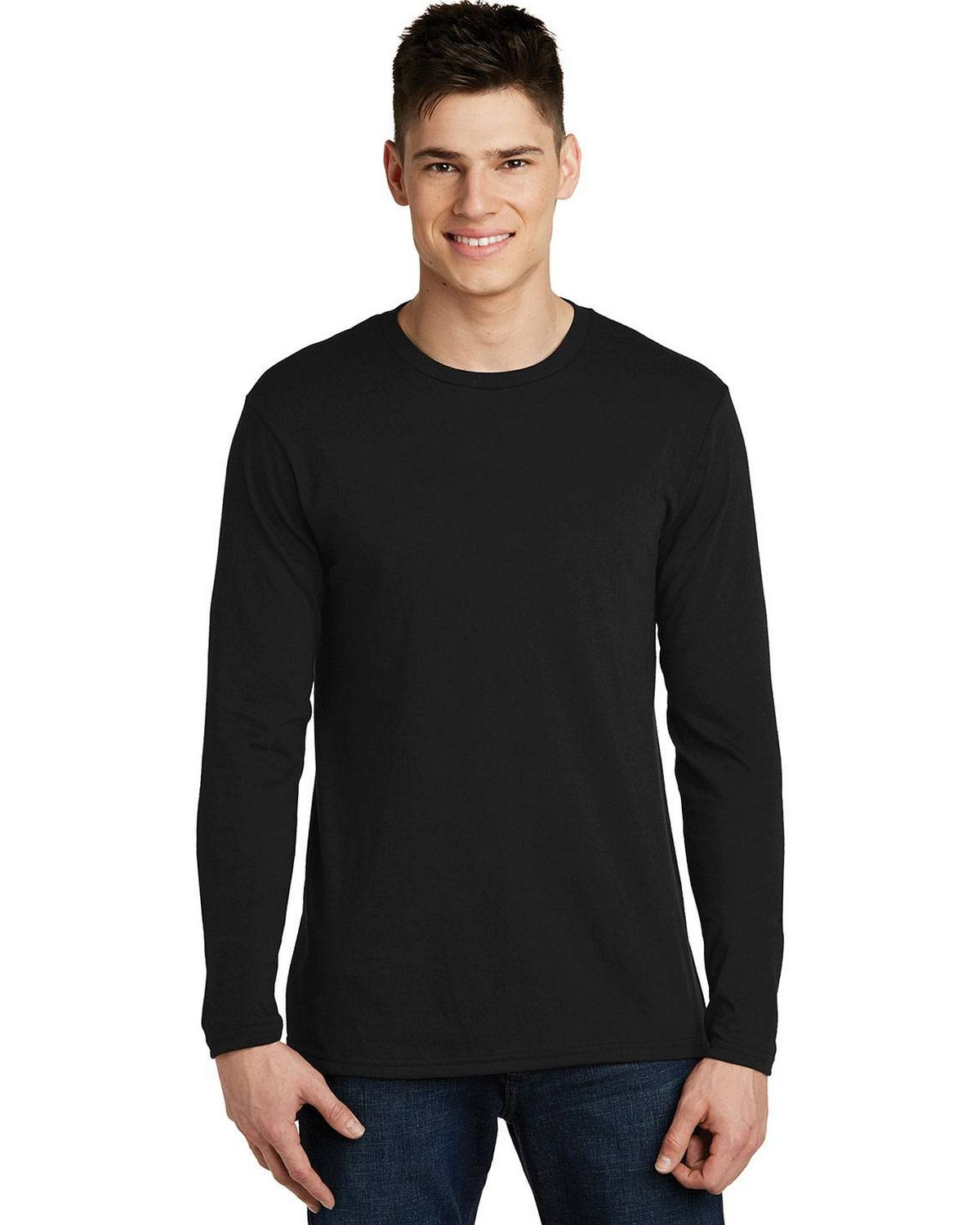 District DT6200 Mens Very Important Long Sleeve T-Shirt