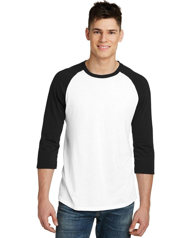 District DT6210 Mens Very Important Tee 3/4 Sleeve Raglan T-Shirt