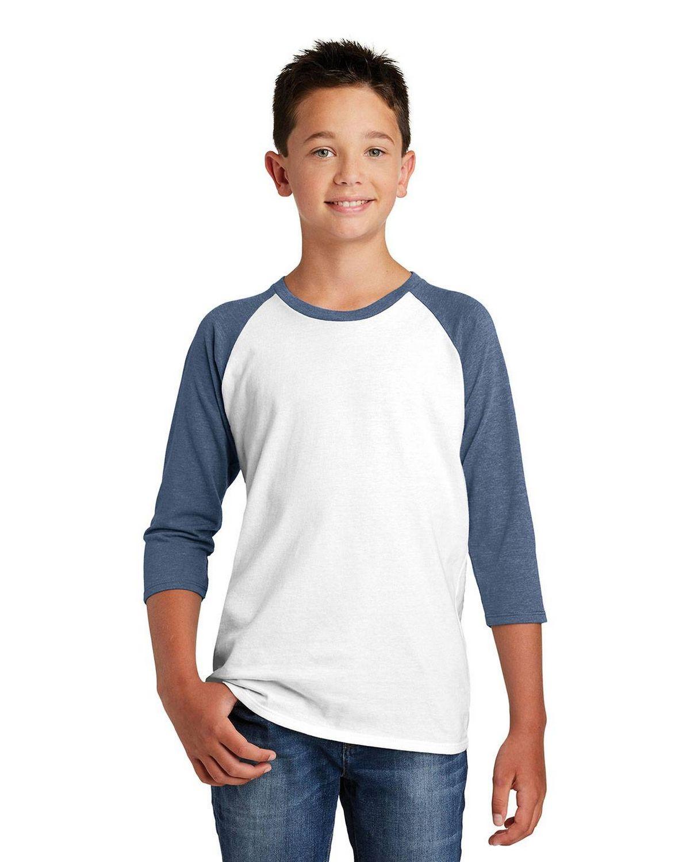 District DT6210Y Boys Very Important 3/4 Sleeve Raglan T-Shirt