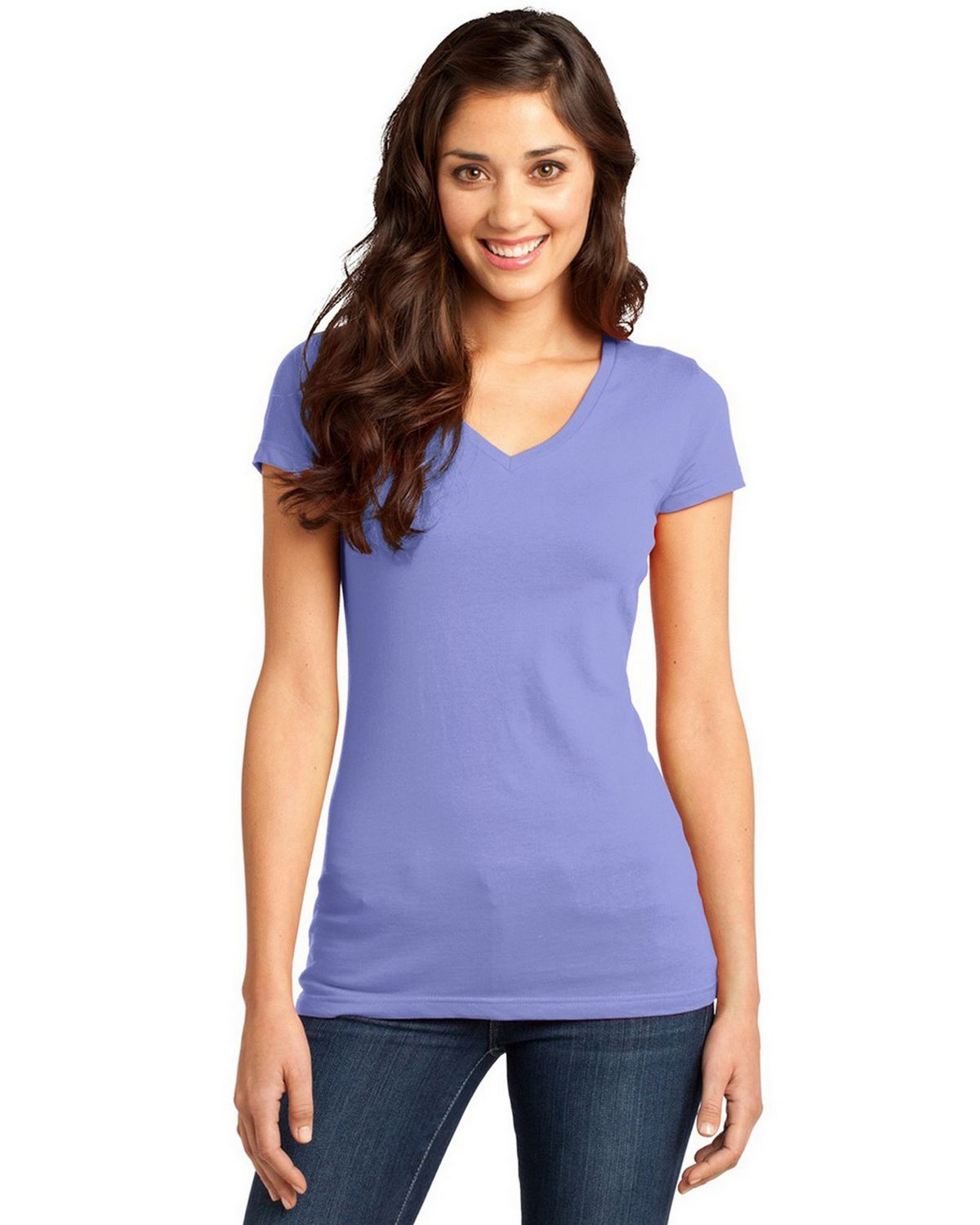 District DT6501 Juniors Very Important V-Neck Tee