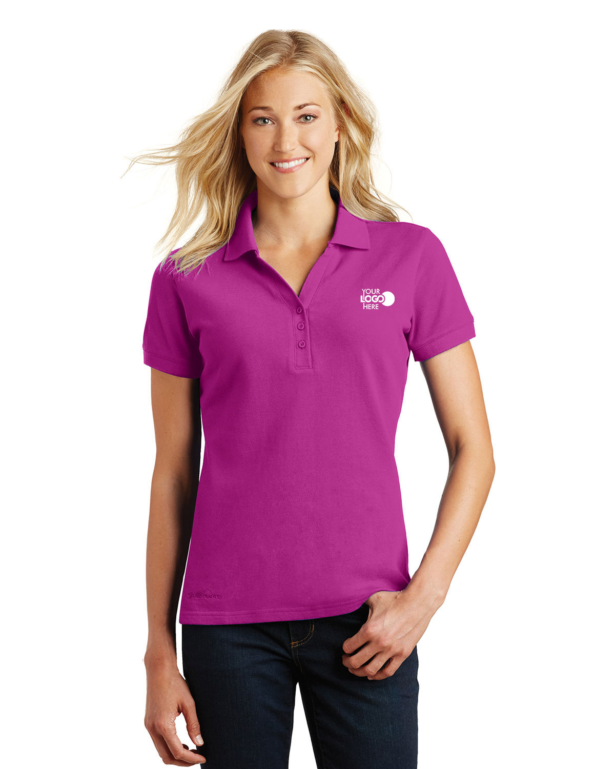 Eddie Bauer EB101 Women Cotton Pique Polo Shirt