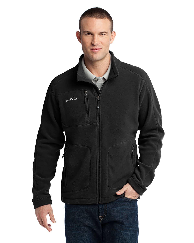 Eddie Bauer EB230 Mens Wind Resistant Full Zip Fleece Jacket