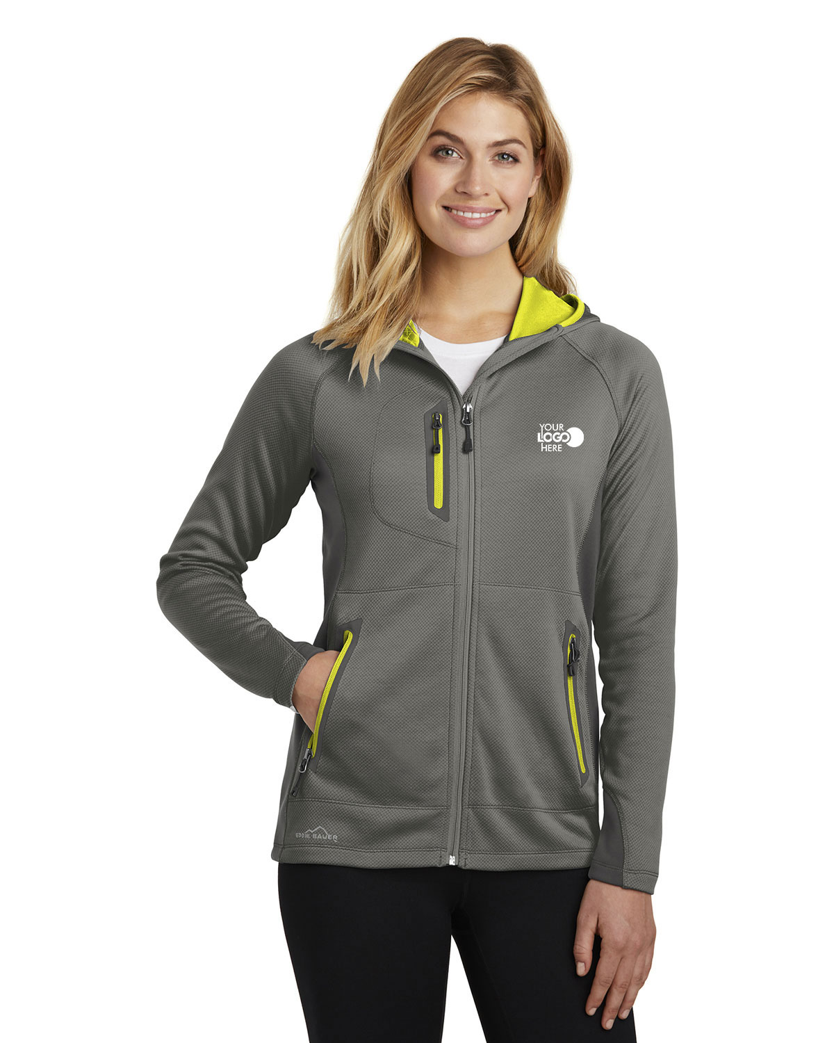 Eddie Bauer EB245 Women Sport Hooded Full-Zip Fleece Jacket