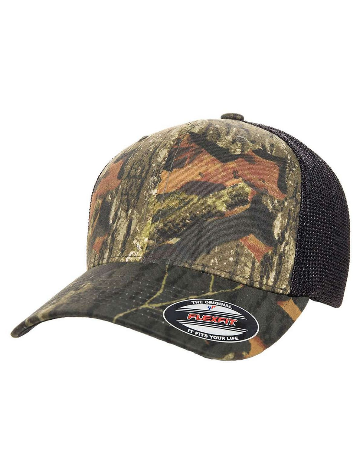 Flexfit 6911 Mens Mossy Oak Stretch Mesh Cap