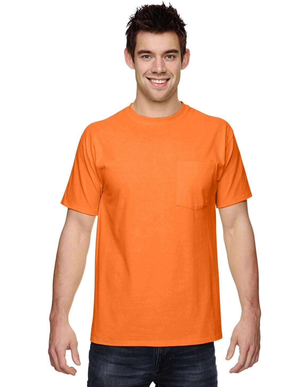 Fruit of the Loom 3931P 100% Heavy Cotton HD Pocket T-Shirt