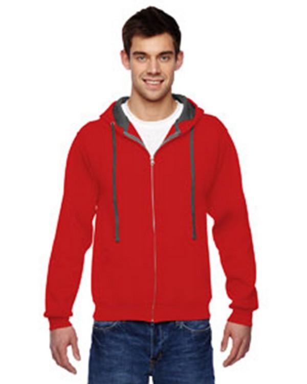 Fruit Of The Loom SF73 Adult Sofspun Full-Zip Hooded Sweatshirt