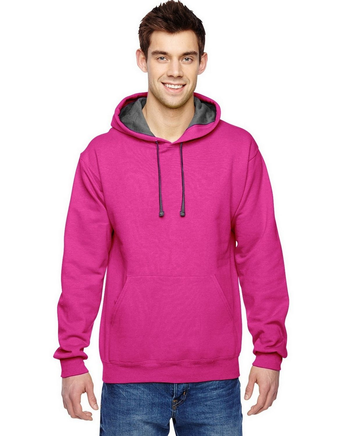 Fruit of the Loom SF76R Sofspun Hooded Sweatshirt
