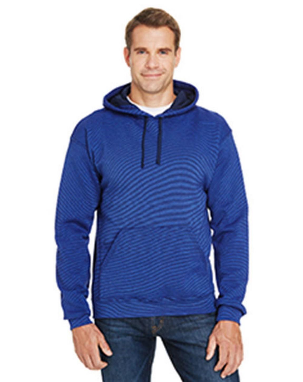 Fruit Of The Loom SF77R Adult Sofspun Striped Hooded Sweatshirt