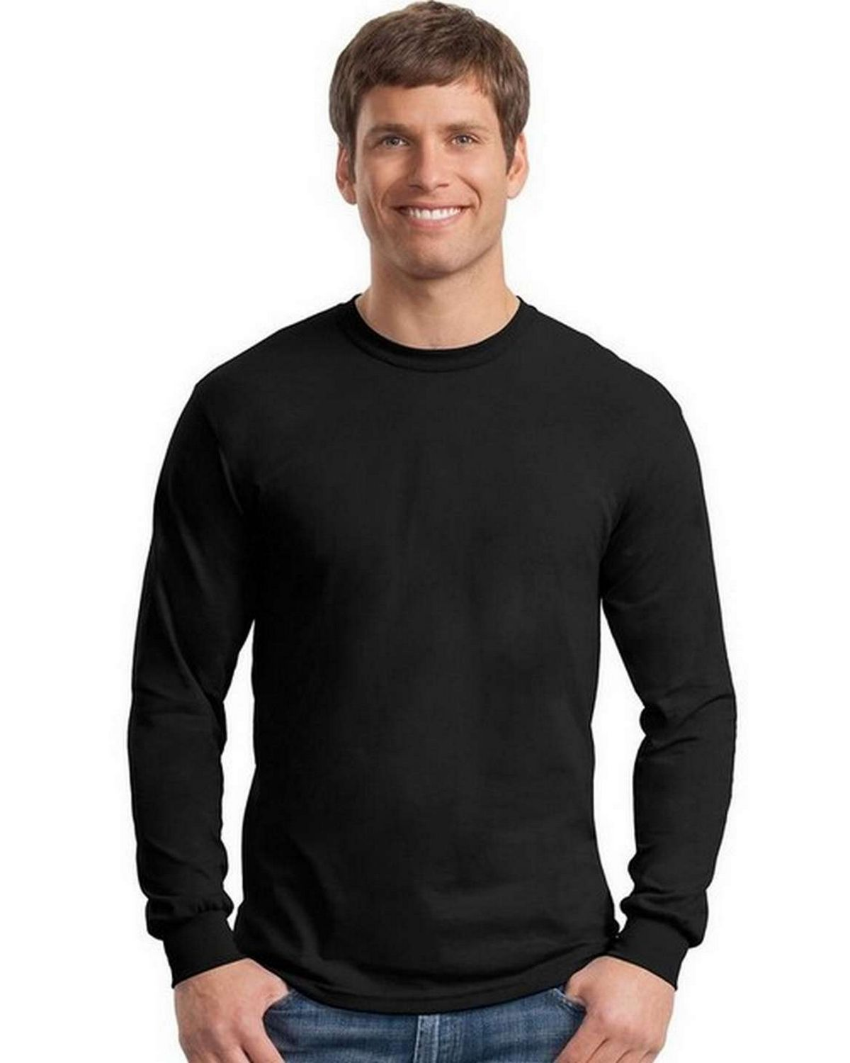 Gildan 5400 Heavy Cotton 100% Cotton Long Sleeve T Shirt