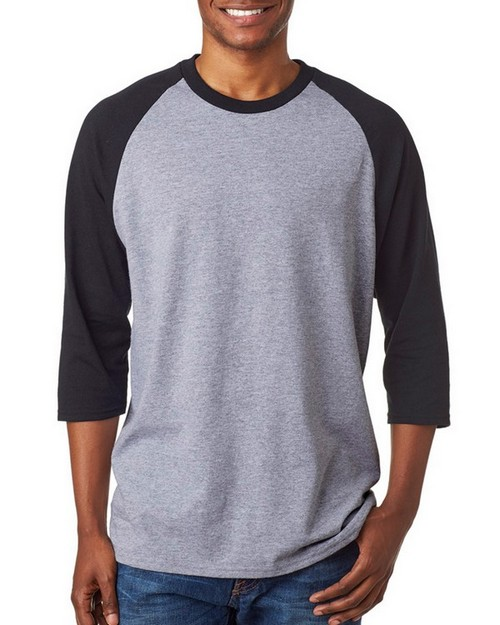 Gildan 5700 Heavy Cotton Adult 3-Quarter-Sleeve Raglan T-Shirt