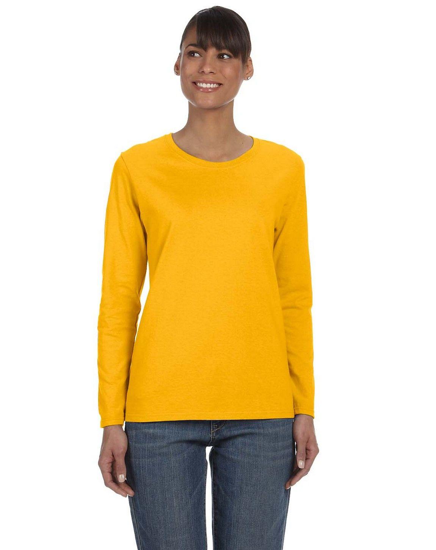 Gildan G540L Heavy Cotton Ladies Missy Fit Long-Sleeve T-Shirt