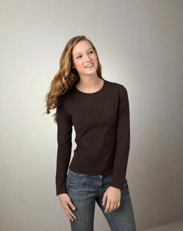 Gildan G644L Softstyle Ladies Junior Fit Long-Sleeve T-Shirt