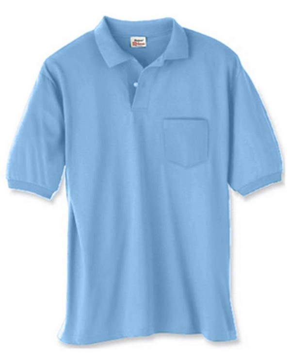 Hanes 054P 50/50 EcoSmart Jersey Pocket Polo