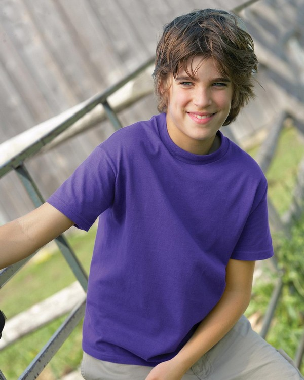 Hanes 5380 Youth Short-Sleeve Cotton Beefy-T T-Shirt