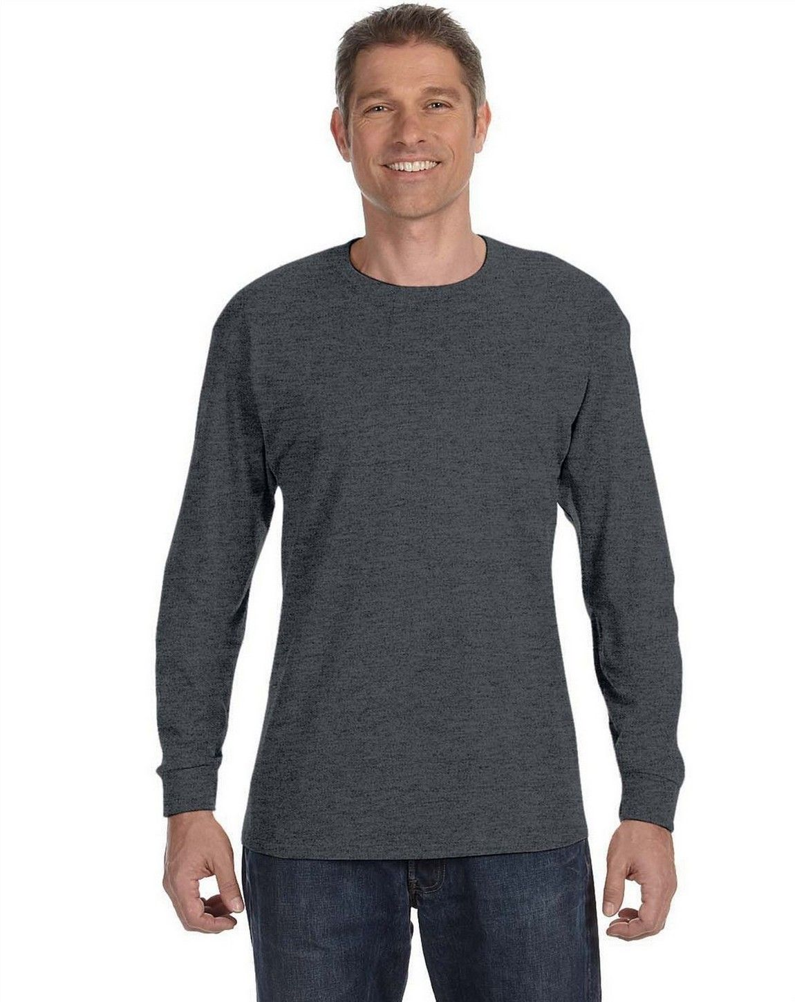 Hanes 5586 Tagless ComfortSoft Long-Sleeve T-Shirt