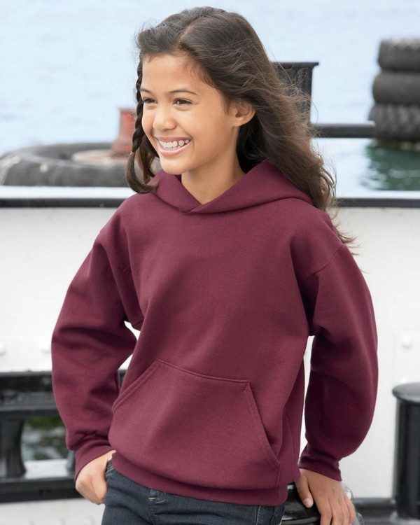 Hanes P473 Youth ComfortBlend EcoSmart 50/50 Pullover Hood
