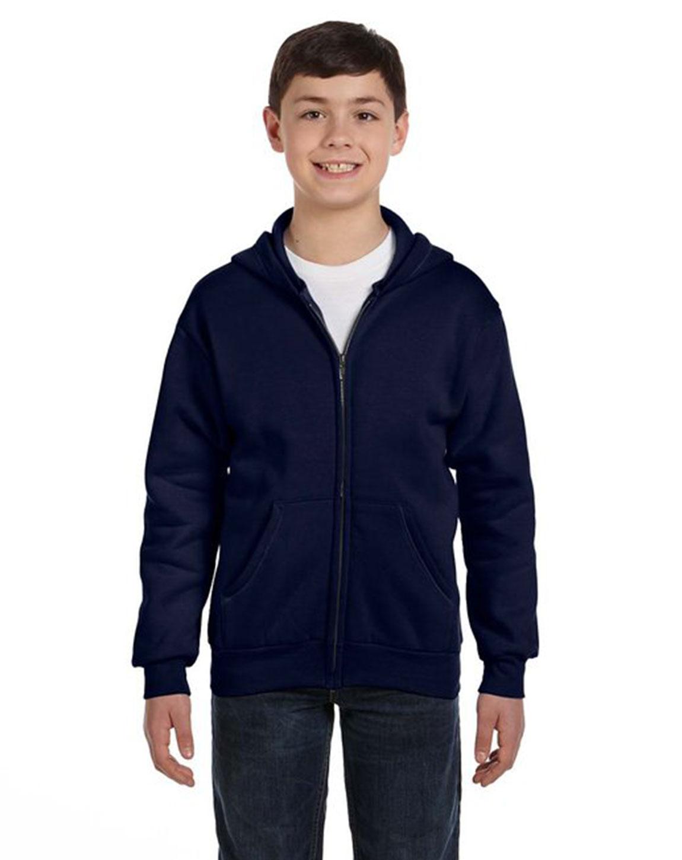 Hanes P480 Youth ComfortBlend 50/50 Full-Zip Hood