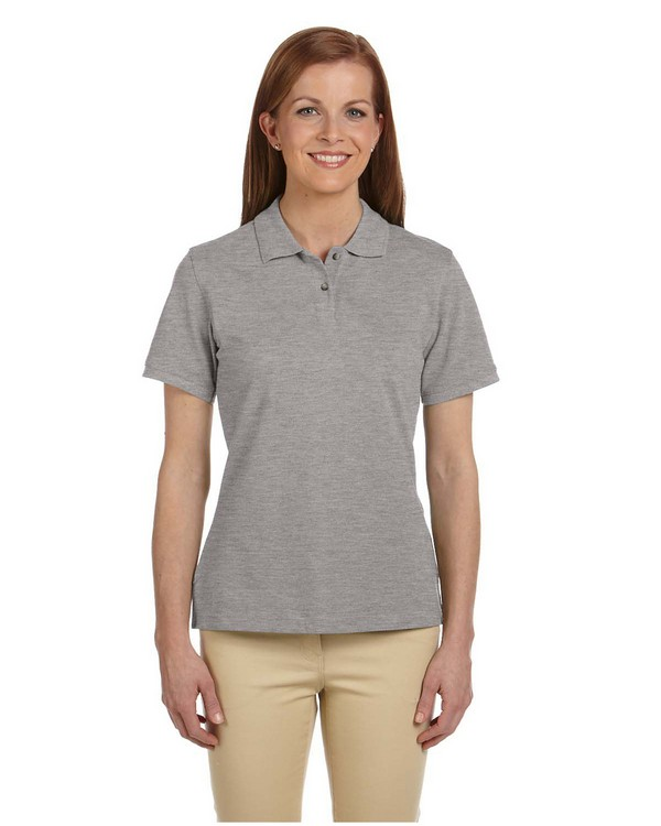 Harriton M200W Ladies Ringspun Cotton Piqu Short-Sleeve Polo