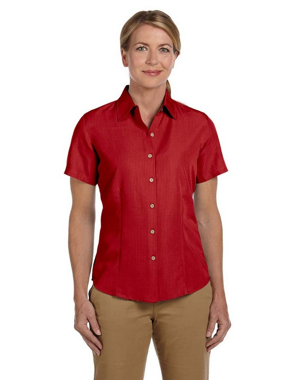 Harriton M560W Ladies Barbados Textured Camp Shirt