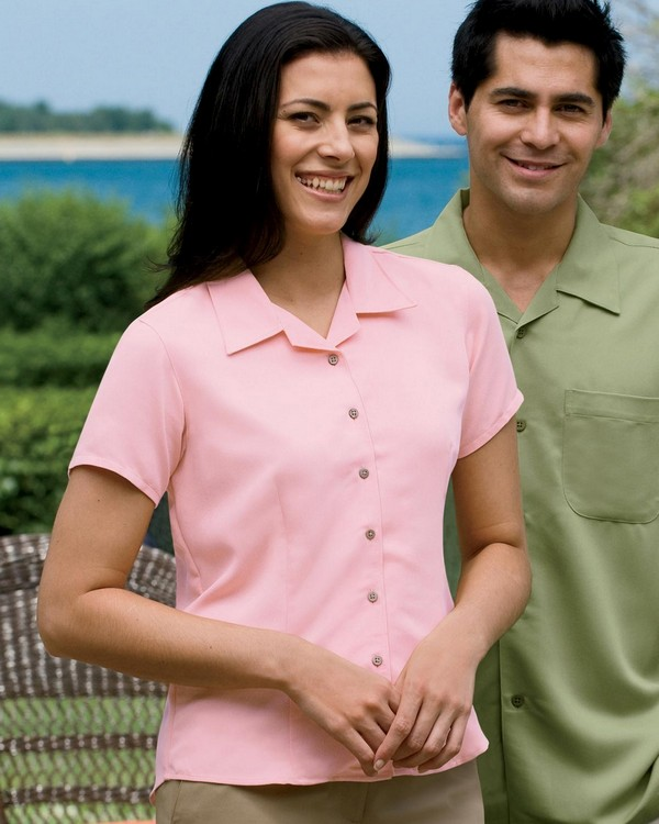 Harriton M570W Ladies Bahama Cord Camp Shirt