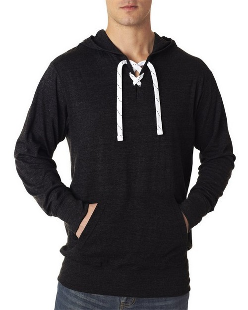 J America J8231 Adult Sport Lace Jersey Hooded Fleece