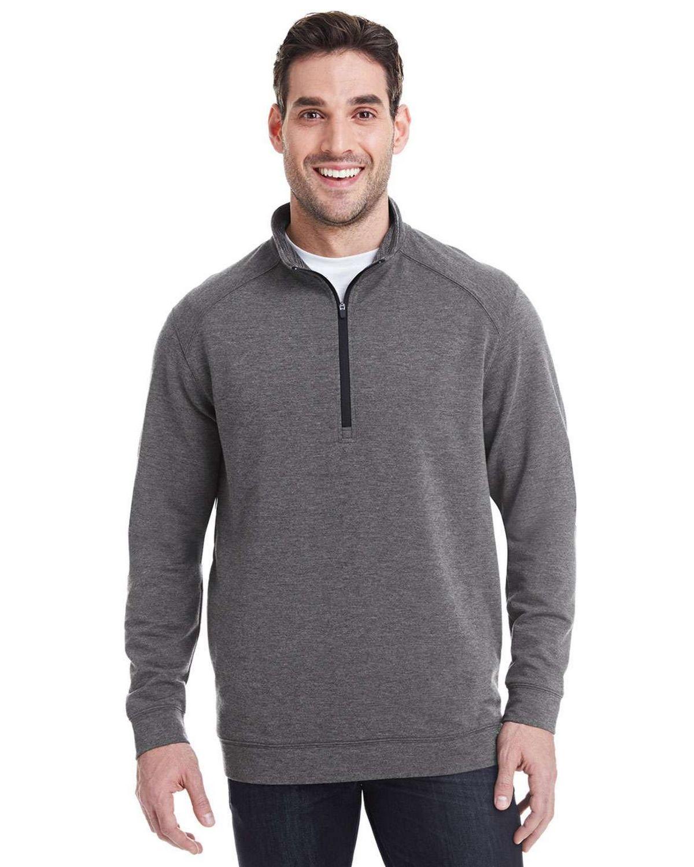 J America JA8434 Mens Omega Stretch Quarter-Zip Pullover