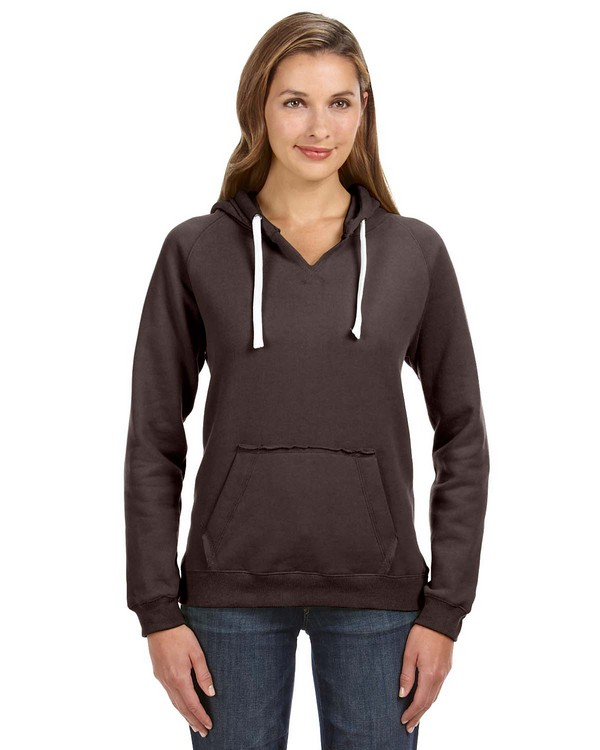 J America JA8836 Ladies Sydney Brushed V-Neck Hood