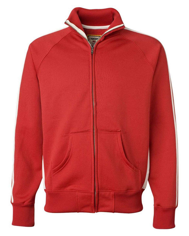 J America JA8858 Adult Vintage Poly Fleece Track Jacket