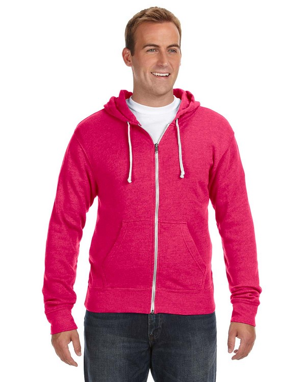 J America JA8872 Triblend Full-Zip Fleece Hood