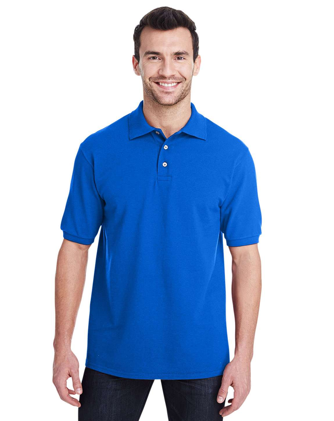 Jerzees 443MR Adult Premium 100% Ringspun Cotton Pique Polo