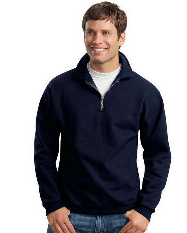 Jerzees 4528M Super Sweats 1/4-Zip Sweatshirt with Cadet Collar