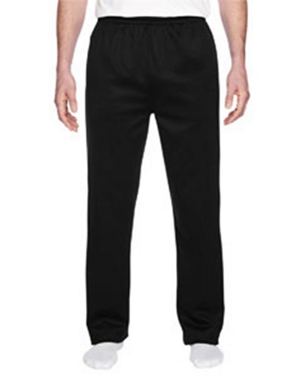 Jerzees PF974 Adult Sport Tech Open-Bottom Sweatpants with Pockets