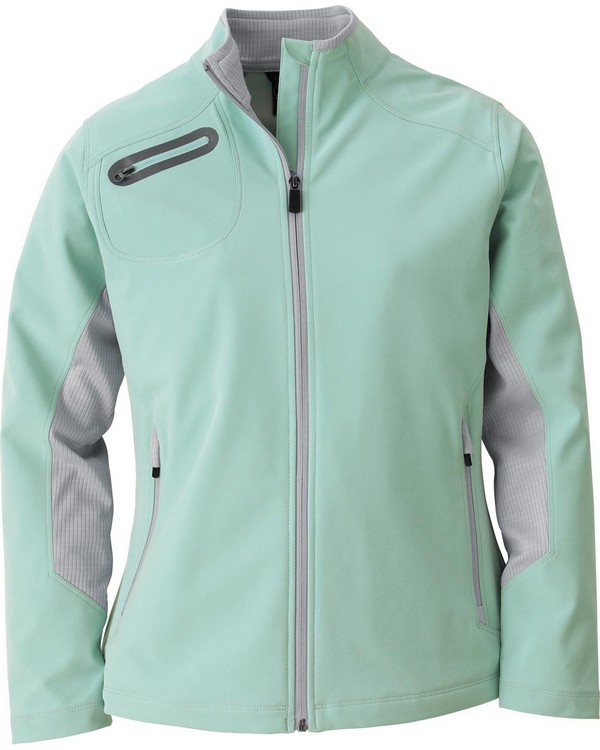 North End Sport Red 78621 Ladies Three-Layer Light Bonded Soft Shell Jacket