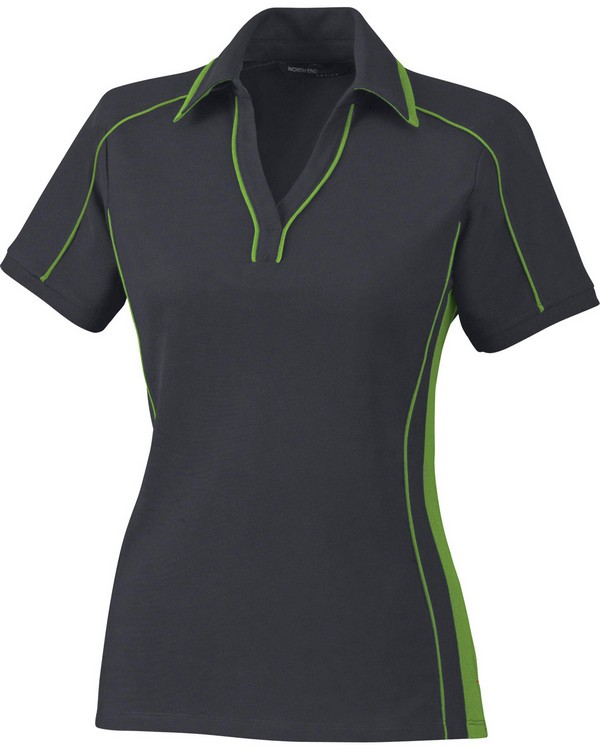 North End 78648 Ladies Sonic Performance Polyester Pique Polo